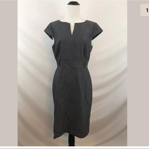 3c81a2543d5e Tahari Arthur S. Levine V-Neck Belted Dress. M_5a7e6c52a6e3ea9ece308b6c